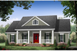 Southern House Plan Front of Home - Williams Lane Farmhouse 077D-0266 | House Plans and More
