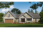 Ranch House Plan Front of Home - Wilson's Landing Country Home 077D-0268 | House Plans and More