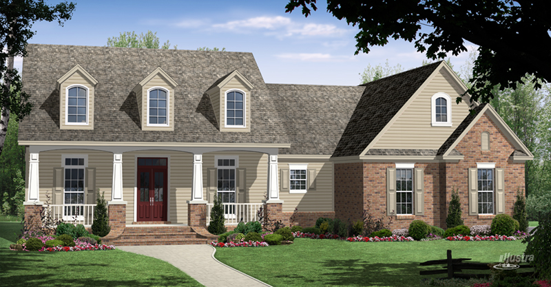 Traditional House Plan Front of Home - Forrest Hill Country Home 077D-0269 | House Plans and More