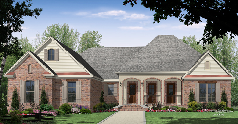 Lowcountry House Plan Front of Home - Woodbridge Lane Country Home 077D-0271 | House Plans and More