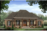 Lowcountry House Plan Front of Home -  077D-0287 | House Plans and More
