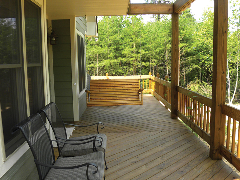 Ranch House Plan Deck Photo 02 - Adirondack Rustic Dream Home 080D-0012   House Plans and More