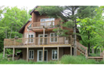 Ranch House Plan Rear Porch Photo - Adirondack Rustic Dream Home 080D-0012   House Plans and More