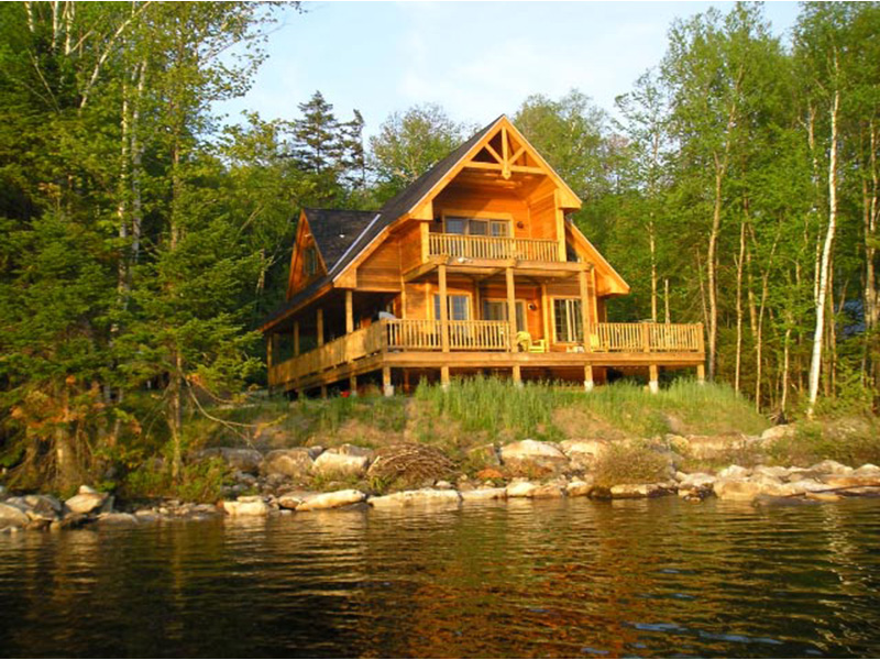 Ranch House Plan Rear Photo 07 - Adirondack Rustic Dream Home 080D-0012   House Plans and More