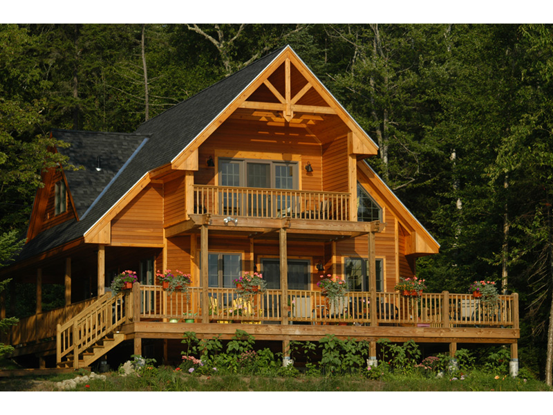Ranch House Plan Rear Photo 08 - Adirondack Rustic Dream Home 080D-0012   House Plans and More