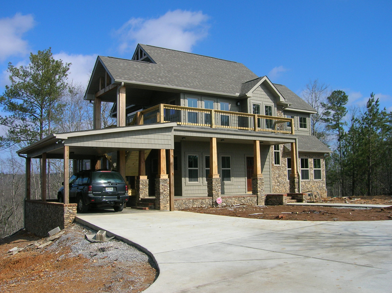 Arts & Crafts House Plan Front of Home - Antares Vacation Home 080D-0014 | House Plans and More