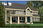 Arts & Crafts House Plan Rear Photo 01 - Antares Vacation Home 080D-0014 | House Plans and More