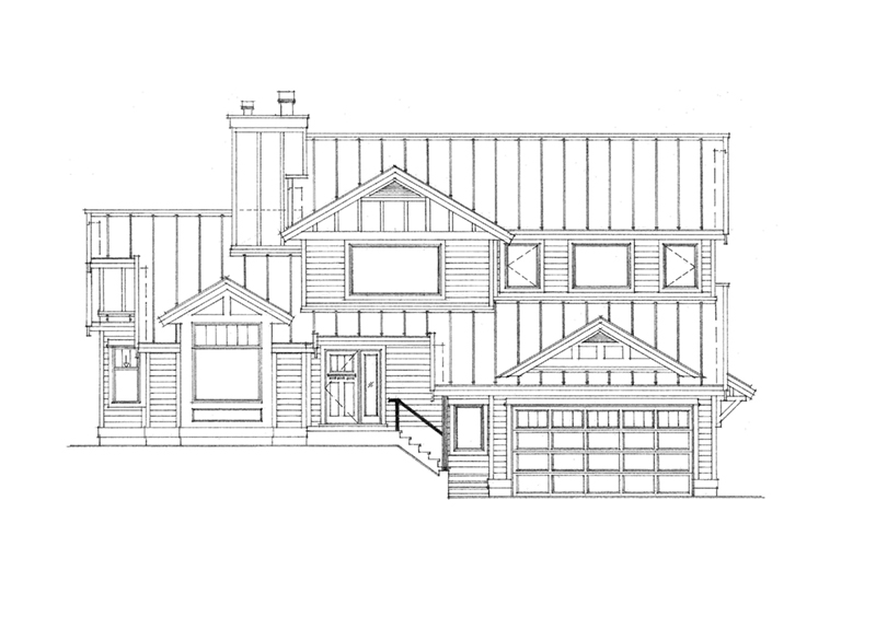Contemporary House Plan Front of Home - Beechwood Craftsman Home 080D-0022 | House Plans and More