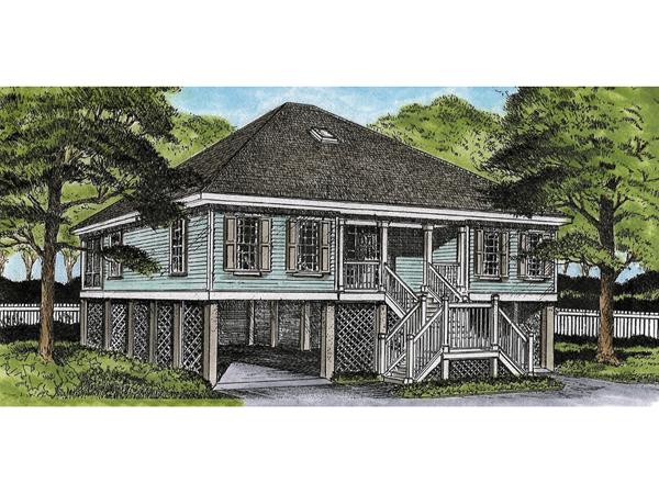 Green Park Raised Cottage Home Plan 081D-0051 | House Plans ... on raised acadian house plans, raised louisiana house plans, creole style house plans, raised cottage house plans, raised southern house plans,
