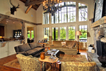 Rustic Home Plan Great Room Photo 02 - Humphrey Creek Rustic Home 082S-0002 | House Plans and More