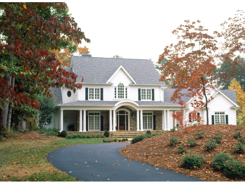 Country French House Plan Front of Home - Avanti Acadian Country Home 082S-0003   House Plans and More