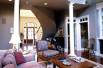 Country French House Plan Living Room Photo 01 - Avanti Acadian Country Home 082S-0003   House Plans and More