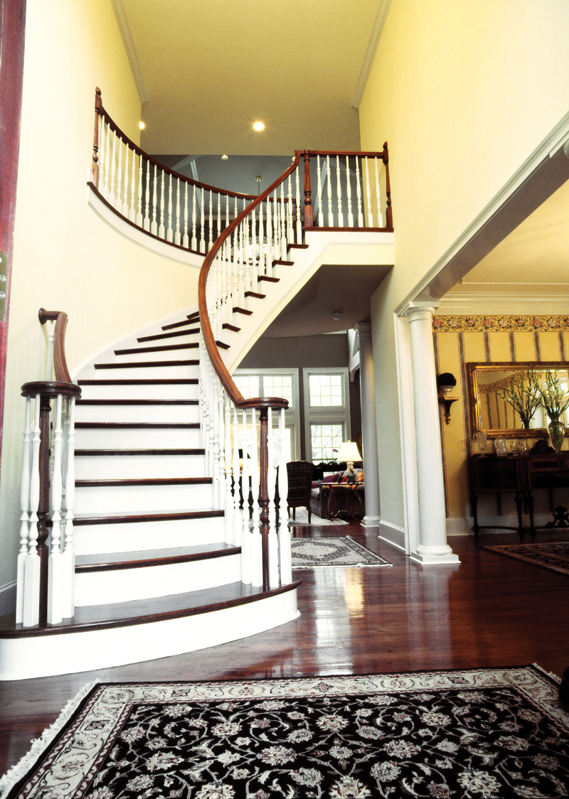 Country French House Plan Stairs Photo 02 - Avanti Acadian Country Home 082S-0003   House Plans and More