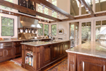 Vacation House Plan Kitchen Photo 04 - Hunnewell Point Rustic Home 082S-0004 | House Plans and More