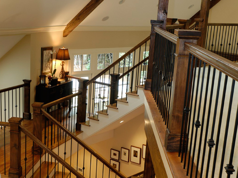 Vacation House Plan Stairs Photo 02 - Hunnewell Point Rustic Home 082S-0004 | House Plans and More