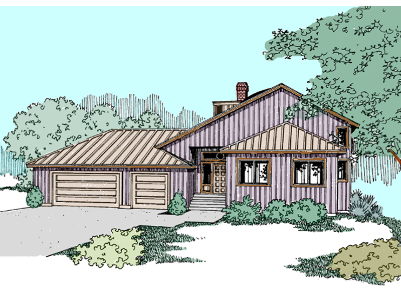 Castlewood Creek Tri-Level Home Plan 085D-0840