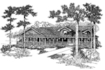 Bungalow House Plan Front of Home - Park Steed Rustic Home 085D-0846 | House Plans and More