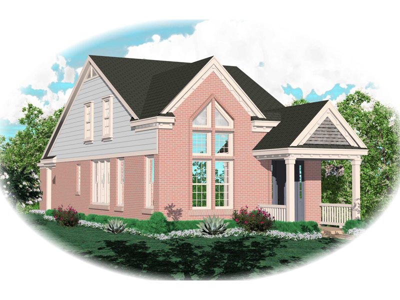 Enderby Park Narrow Lot Home Plan 087D-0099 | House Plans ... on