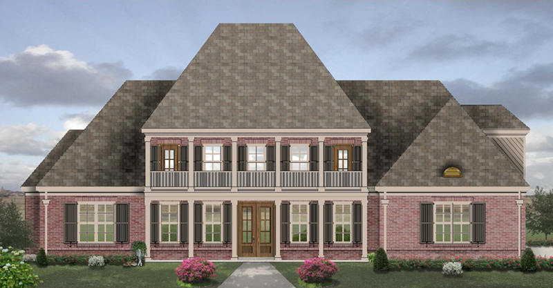 Georgian House Plan Front of Home - 087D-1705 | House Plans and More