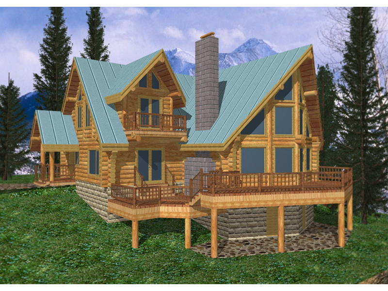 Awesome Freeland Creek A Frame Log Home Plan 088D 0002 House Plans Beutiful Home Inspiration Xortanetmahrainfo