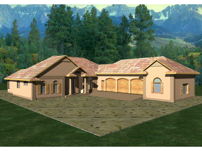 Duarte Luxury Ranch Home Plan 088D-0100 | House Plans and More on ranch house plans with angled garage, icf basement home plans, icf ranch home plans,