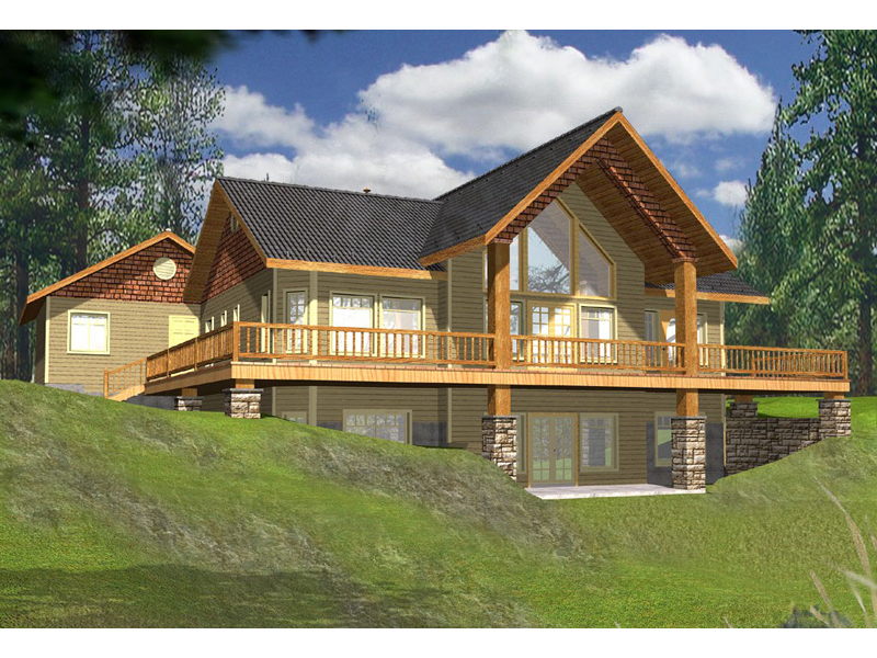 Golden Lake Rustic A-Frame Home Plan 088D-0141 | House Plans ... on ranch home plans with 3 car garage, ranch home plans with 2 car garage, ranch home plans with loft,