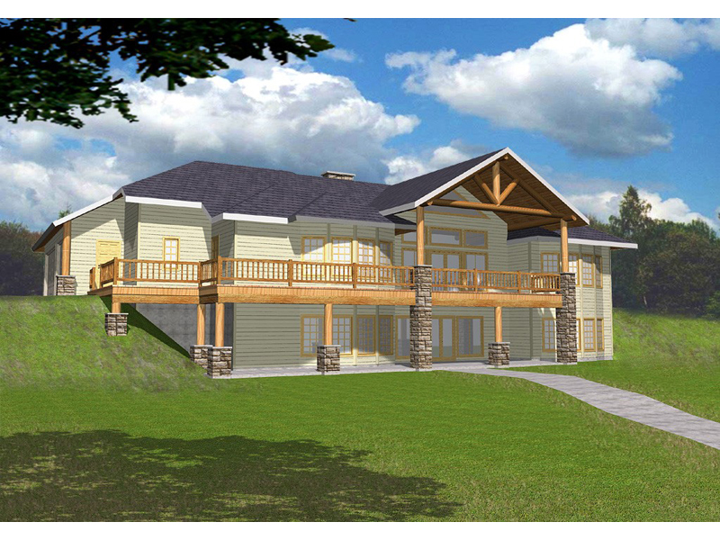 Masonville Manor Mountain Home Plan 088D-0258 | House Plans ... on walkout ranch floor plans, simple lake house floor plans, split level home floor plans, hillside house plans with walkout basement, modular home floor plans,