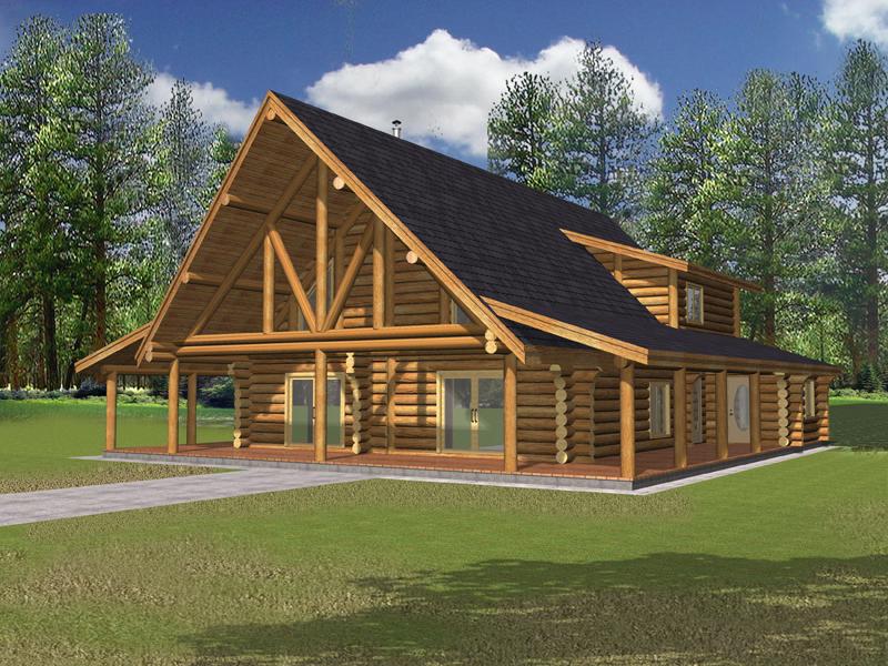 Fabulous Lodgepole Rustic Log Home Plan 088D 0323 House Plans And More Beutiful Home Inspiration Xortanetmahrainfo