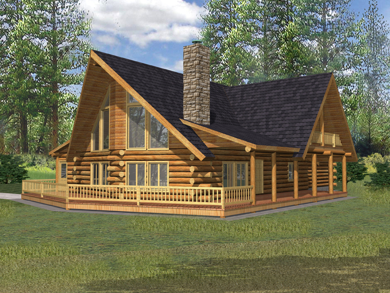 Crested Butte Rustic Log Home Plan 088D-0324 | House Plans ...