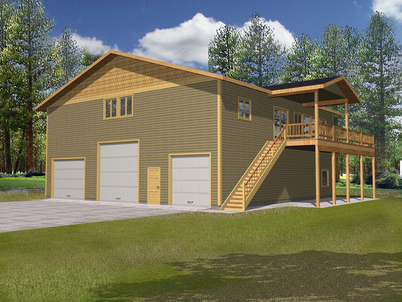 Deltaview Country Home Plan 088D-0343   House Plans and More on modern contemporary 3-story house plans, 3 car garage house floor plans, drive under garage craftsman house plans, drive through garage under house, tandem garage house floor plans, drive under beach house plans,