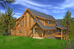 Log Cabin House Plan Front of Home -  088D-0405 | House Plans and More