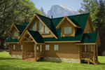 Mountain Home Plan Front of Home -  088D-0408 | House Plans and More