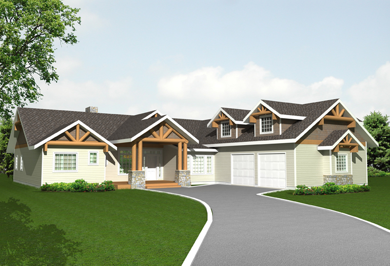 Lake House Plan Front of Home -  088D-0421 | House Plans and More