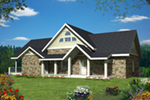 Rustic Home Plan Front of Home -  088D-0422 | House Plans and More