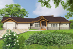 Rustic Home Plan Front of Home -  088D-0425 | House Plans and More