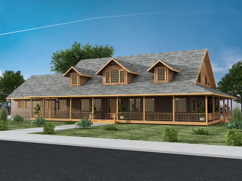 Lake House Plan Front of Home -  088D-0445 | House Plans and More