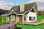 Rustic Home Plan Front of House 088D-0472