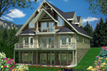 Country House Plan Front of Home - Indian Pointe Waterfront Home 088D-0541 | House Plans and More