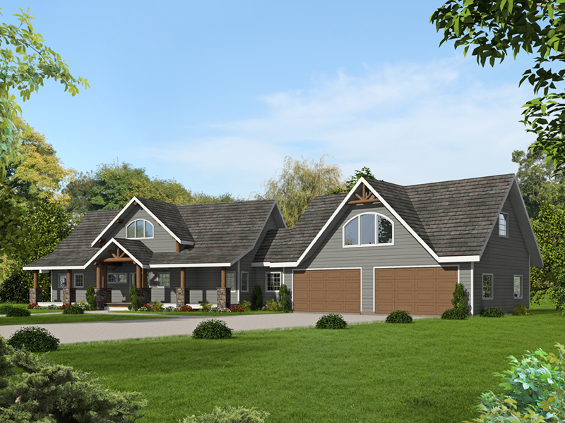 Luxury House Plan Front of Home - 088D-0614   House Plans and More