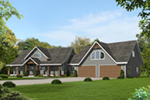 Prairie Style Floor Plan Front of House 088D-0614
