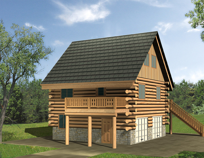 Vacation House Plan Front of Home -  088D-0634 | House Plans and More