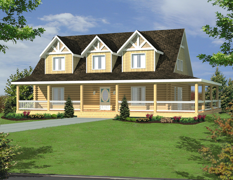 Lake House Plan Front of Home -  088D-0635 | House Plans and More