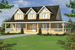 Mountain Home Plan Front of Home -  088D-0635 | House Plans and More
