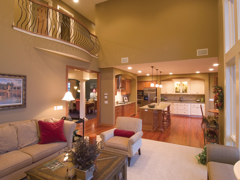 Traditional House Plan Great Room Photo 01 - Neema Luxury Arcadian Home 091D-0021   House Plans and More