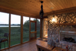 Traditional House Plan Rear Porch Photo - Neema Luxury Arcadian Home 091D-0021   House Plans and More