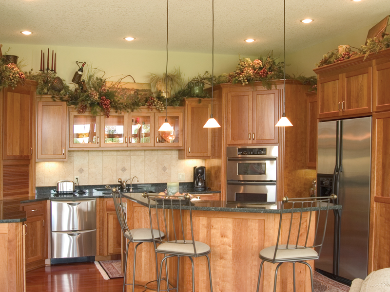 Country House Plan Kitchen Photo 01 - Childers Hill Sunbelt Home 091D-0028 | House Plans and More