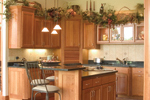 Country House Plan Kitchen Photo 02 - Childers Hill Sunbelt Home 091D-0028 | House Plans and More
