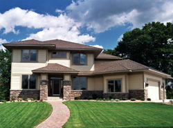Prairie Style Floor Plans Front of House 091D-0445