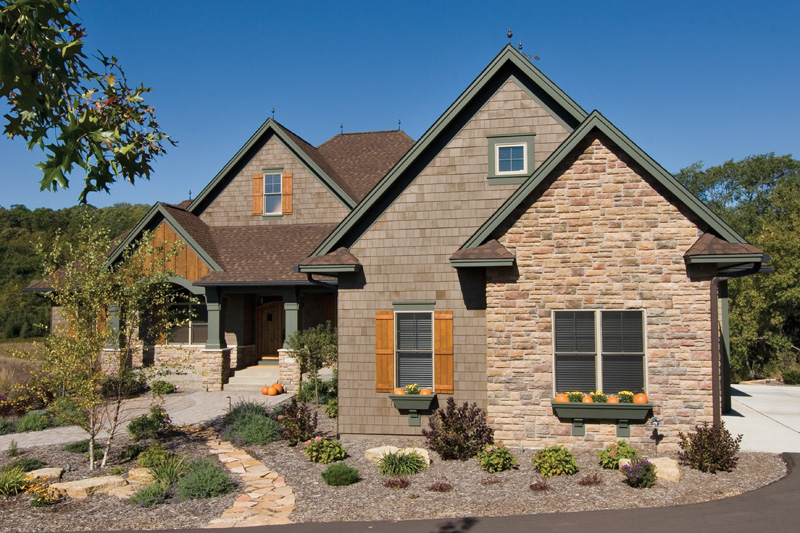 Arts & Crafts House Plan Front Photo 01 - Price Meadow Country French 091D-0470 | House Plans and More