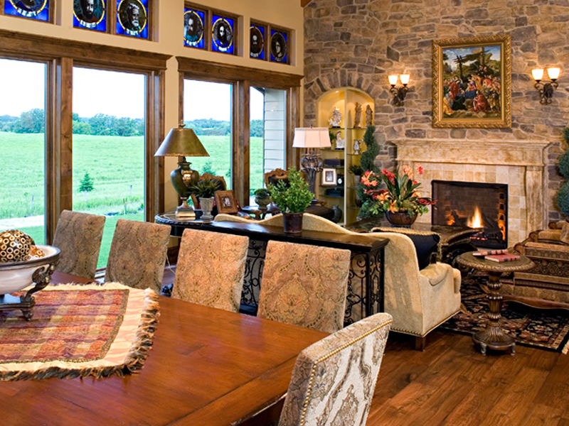 Luxury House Plan Great Room Photo 01 - Shenandoah Heights Luxury Home 091S-0001 | House Plans and More